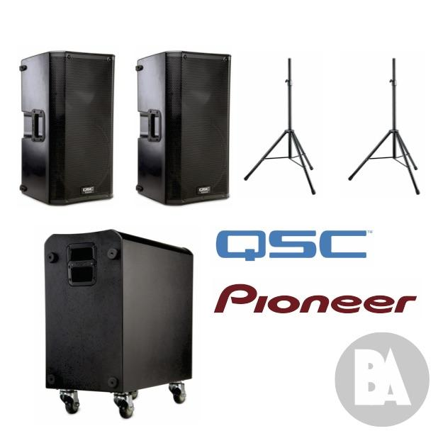 QSC PA hire package